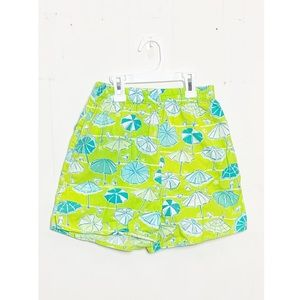Lilly Pulitzer Pull-On Shorts Beach Umbrella Print